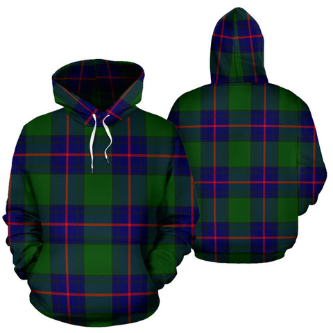 Image of Shaw Modern Tartan All Over Print Hoodie