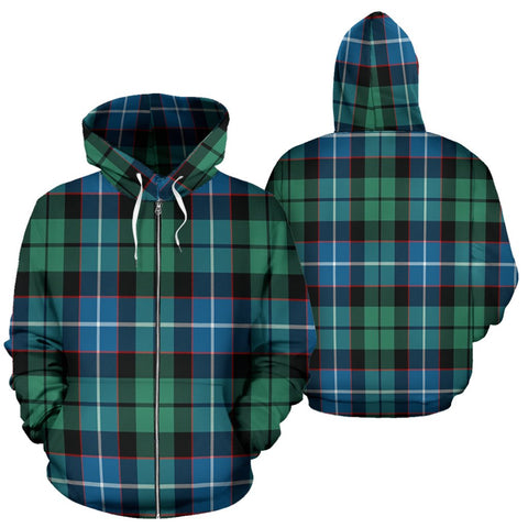 Image of Galbraith Ancient Tartan All Over Zip Hoodie
