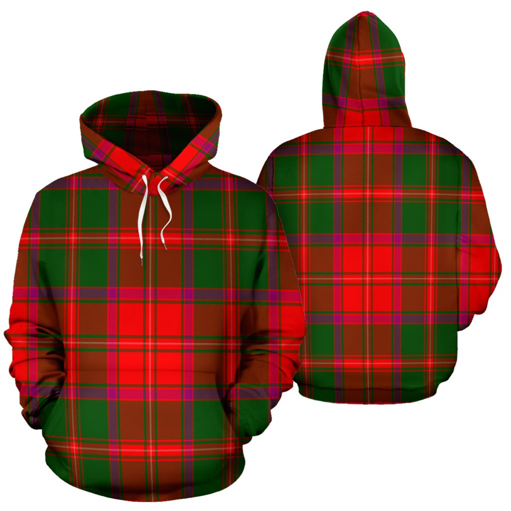 Crief District Tartan All Over Print Hoodie
