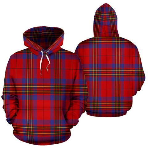 Image of Leslie Modern Tartan All Over Print Hoodie