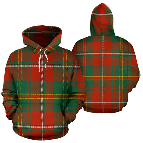 Image of Hay Ancient Tartan All Over Print Hoodie
