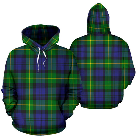 Image of Gordon Modern Tartan All Over Print Hoodie