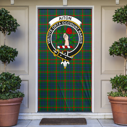 Aiton Clan Badge Tartan Door Sock H01
