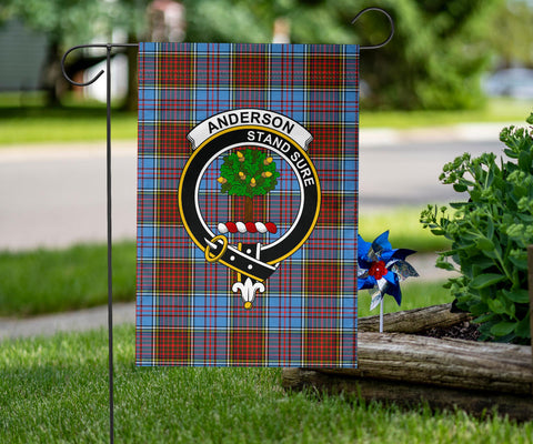 Image of Anderson Clan Badge Tartan Garden Flag H01