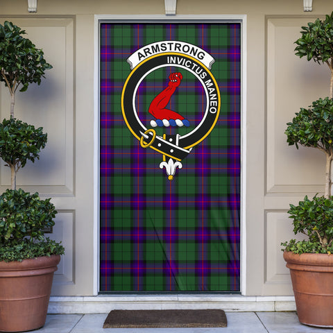 Armstrong Modern Clan Badge Tartan Door Sock H01