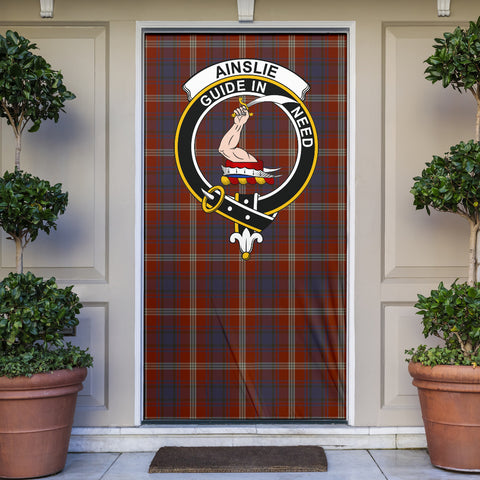 Ainslie Clan Badge Tartan Door Sock H01