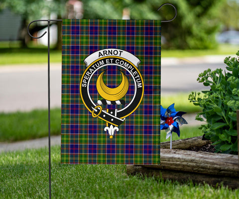 Image of Arnott Clan Badge Tartan Garden Flag H01