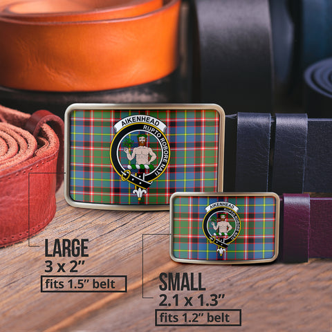 Image of Aikenhead Clan Badge Tartan Belt Buckle H01