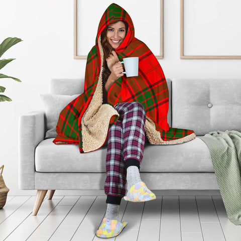 Adair Tartan Hooded Blanket H01