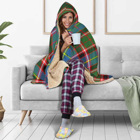 Image of Aikenhead Tartan Hooded Blanket H01