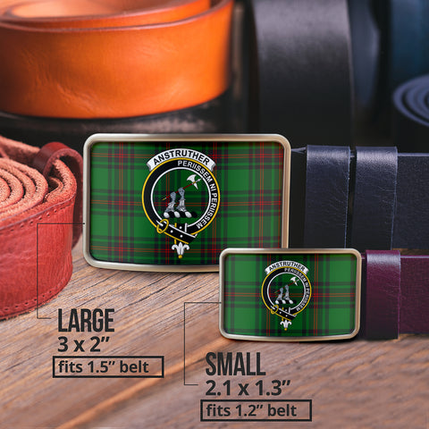 Anstruther Clan Badge Tartan Belt Buckle H01