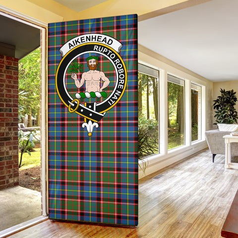 Aikenhead Clan Badge Tartan Door Sock H01