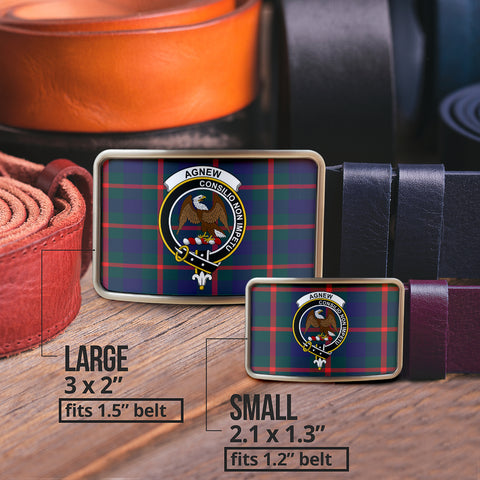 Agnew Modern Clan Badge Tartan Belt Buckle H01