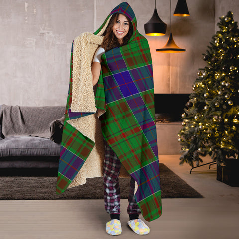 Image of adam Tartan Hooded Blanket H01