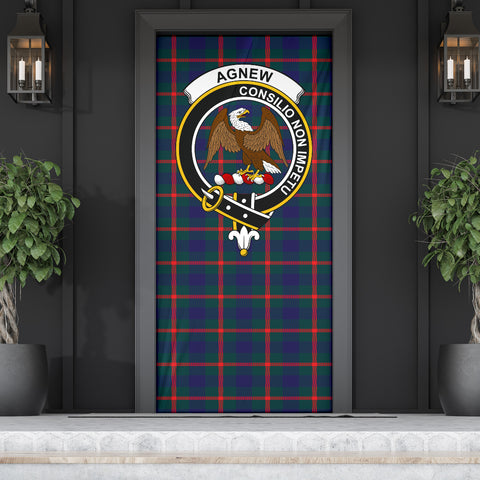 Agnew Modern Clan Badge Tartan Door Sock H01