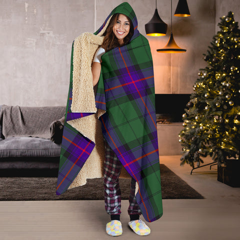 Image of Armstrong Modern Tartan Hooded Blanket H01