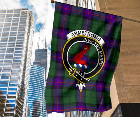 Armstrong Clan Badge Tartan Garden Flag H01