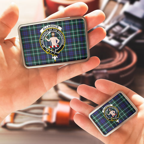 Image of Allardice Clan Badge Tartan Belt Buckle H01