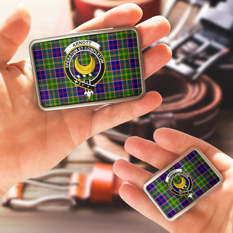 Arnott Clan Badge Tartan Belt Buckle H01
