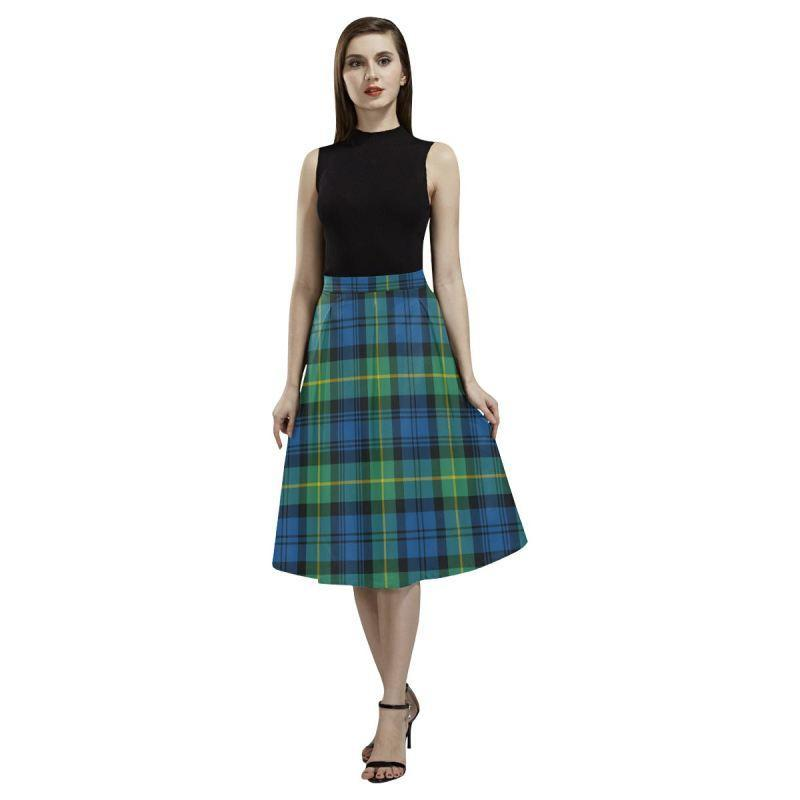 Gordon Ancient Tartan Aoede Crepe Skirt