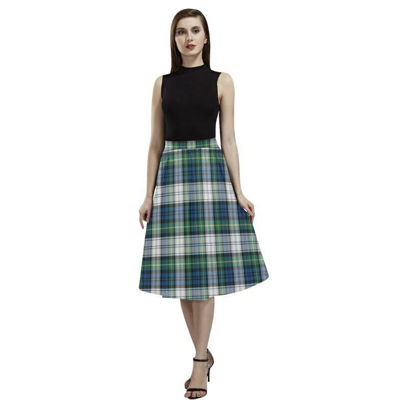 Gordon Dress Ancient Tartan Aoede Crepe Skirt