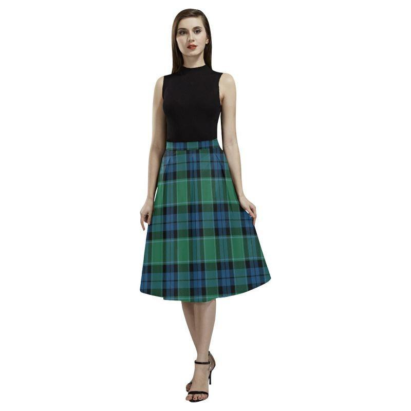Graham Of Menteith Ancient Tartan Aoede Crepe Skirt