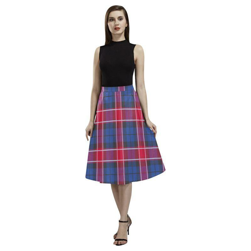 Graham Of Menteith Red Tartan Aoede Crepe Skirt