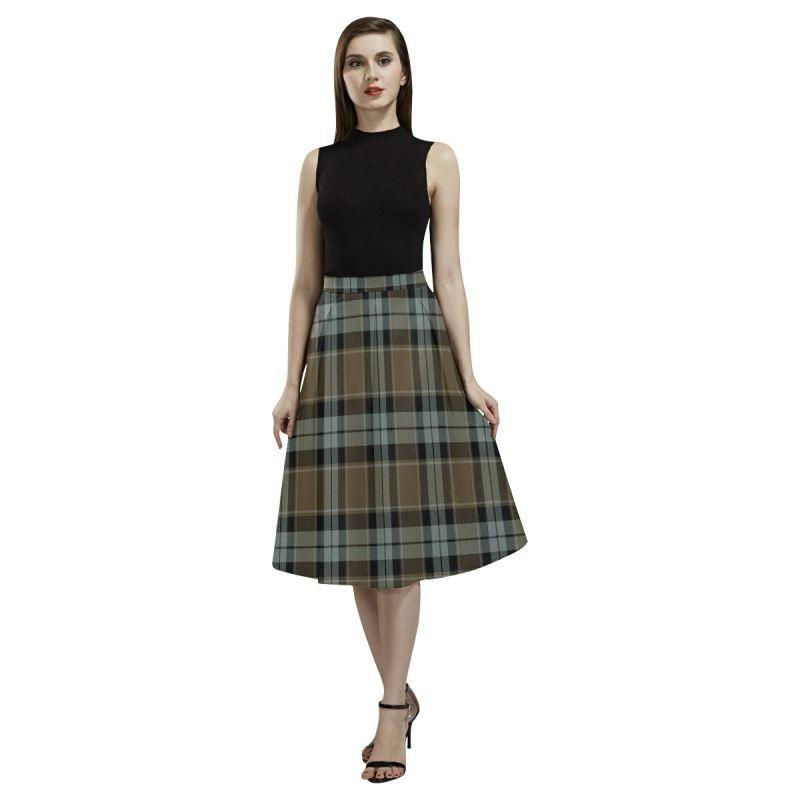 Graham Of Menteith Weathered Tartan Aoede Crepe Skirt