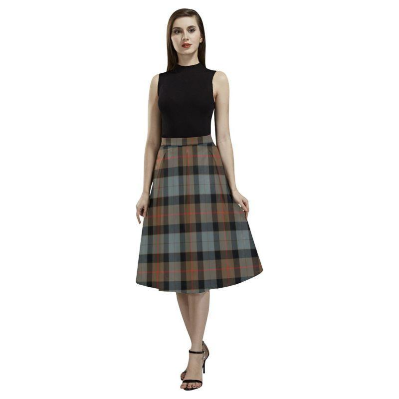 Gunn Weathered Tartan Aoede Crepe Skirt