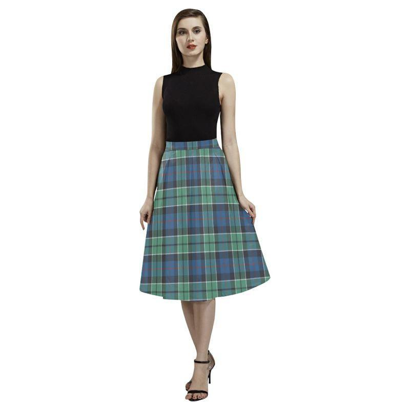 Leslie Hunting Ancient Tartan Aoede Crepe Skirt