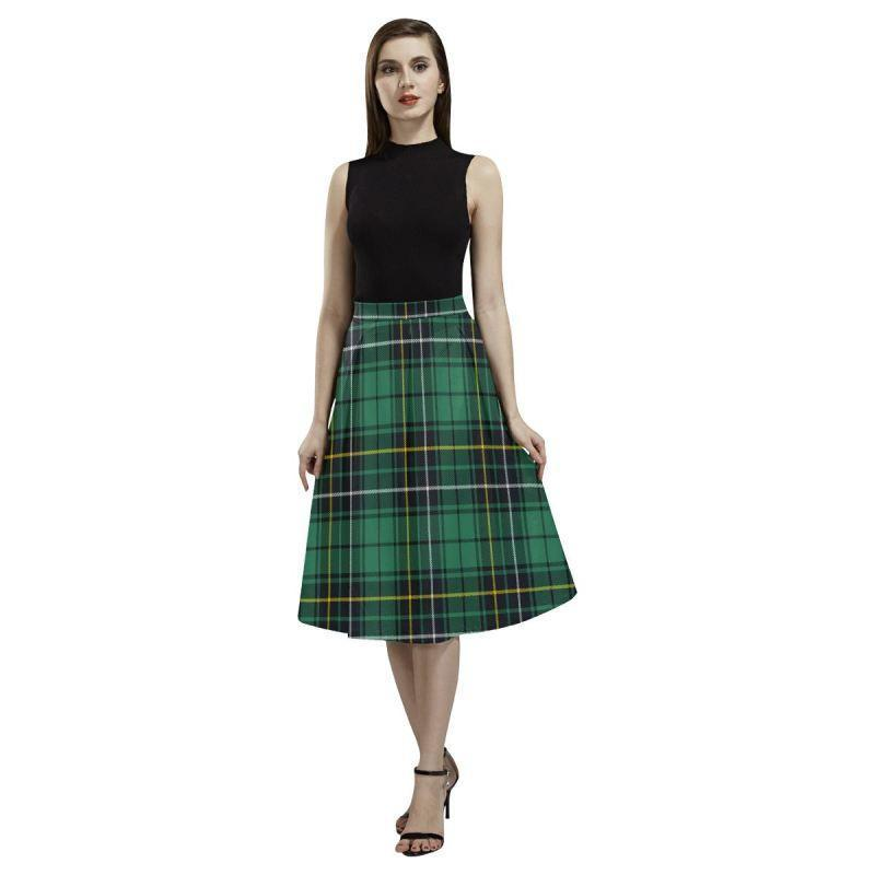 Macalpine Ancient Tartan Aoede Crepe Skirt