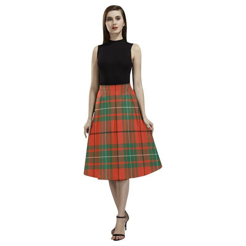 Macaulay Ancient Tartan Aoede Crepe Skirt