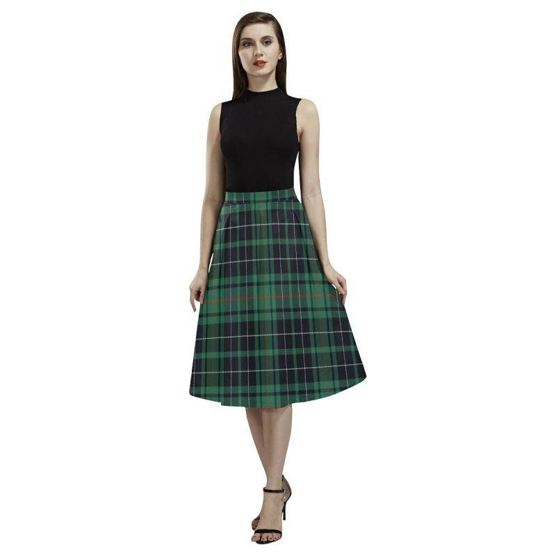 Macaulay Hunting Ancient Tartan Aoede Crepe Skirt