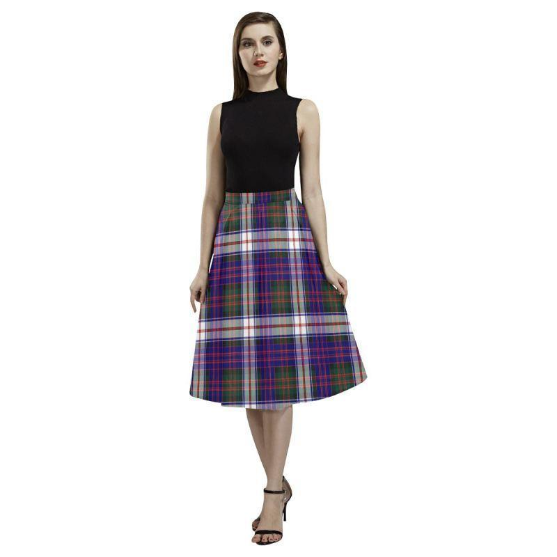 Macdonald Dress Modern Tartan Aoede Crepe Skirt