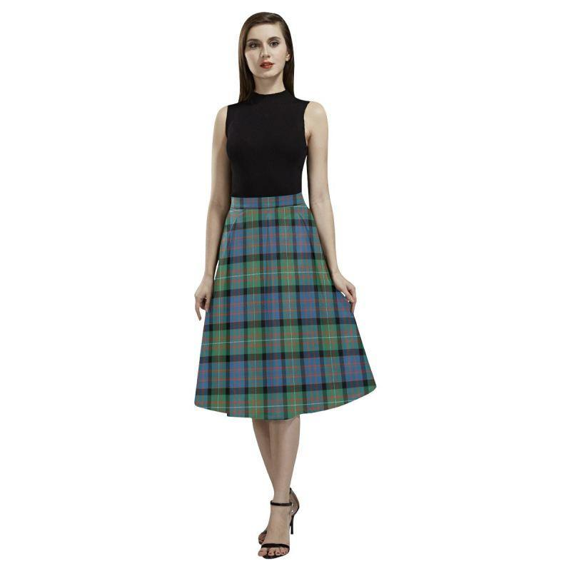 Macdonnell Of Glengarry Ancient Tartan Aoede Crepe Skirt