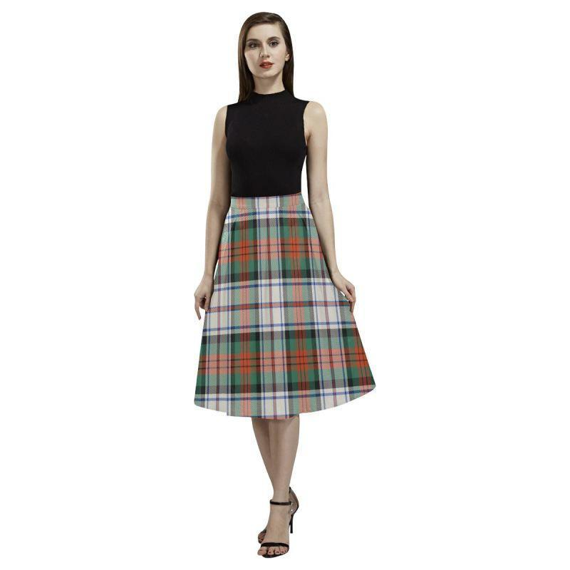 Macduff Dress Ancient Tartan Aoede Crepe Skirt