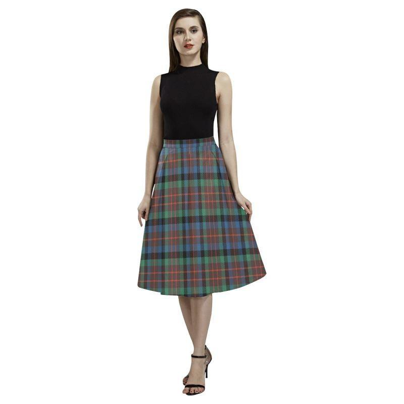 Macduff Hunting Ancient Tartan Aoede Crepe Skirt
