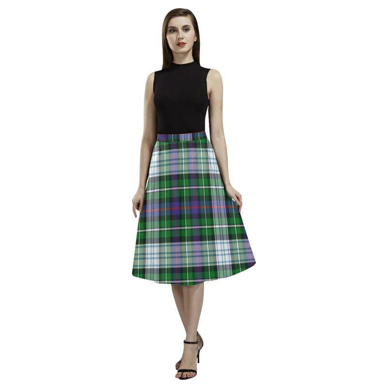 Mackenzie Dress Modern Tartan Aoede Crepe Skirt