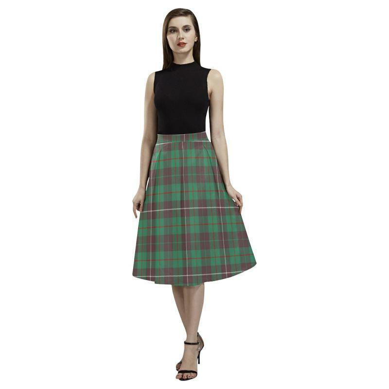Mackinnon Hunting Ancient Tartan Aoede Crepe Skirt