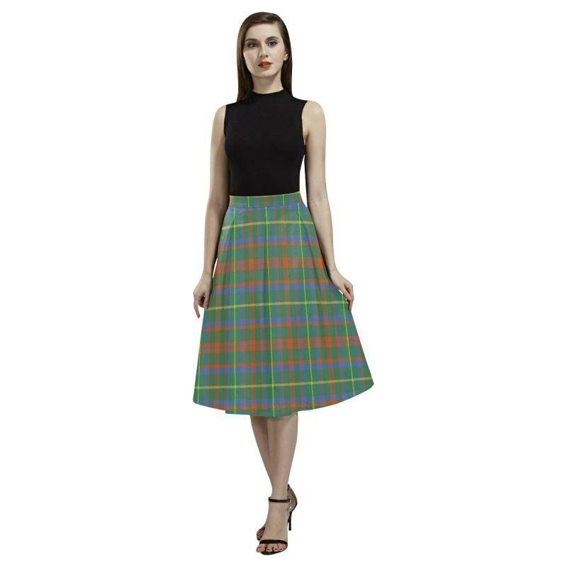 Mackintosh Hunting Ancient Tartan Aoede Crepe Skirt