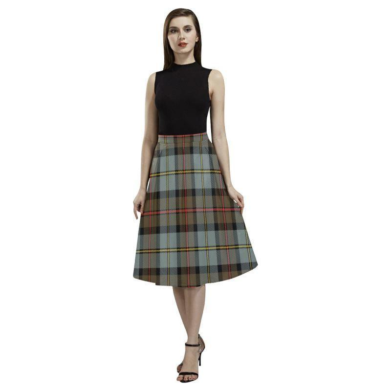 Macleod Of Harris Weathered Tartan Aoede Crepe Skirt