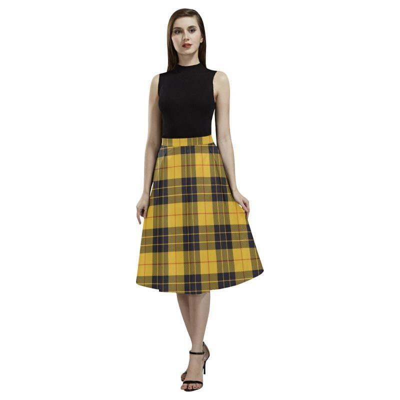 Macleod Of Lewis Ancient Tartan Aoede Crepe Skirt