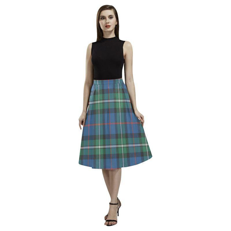 Macphail Hunting Ancient Tartan Aoede Crepe Skirt