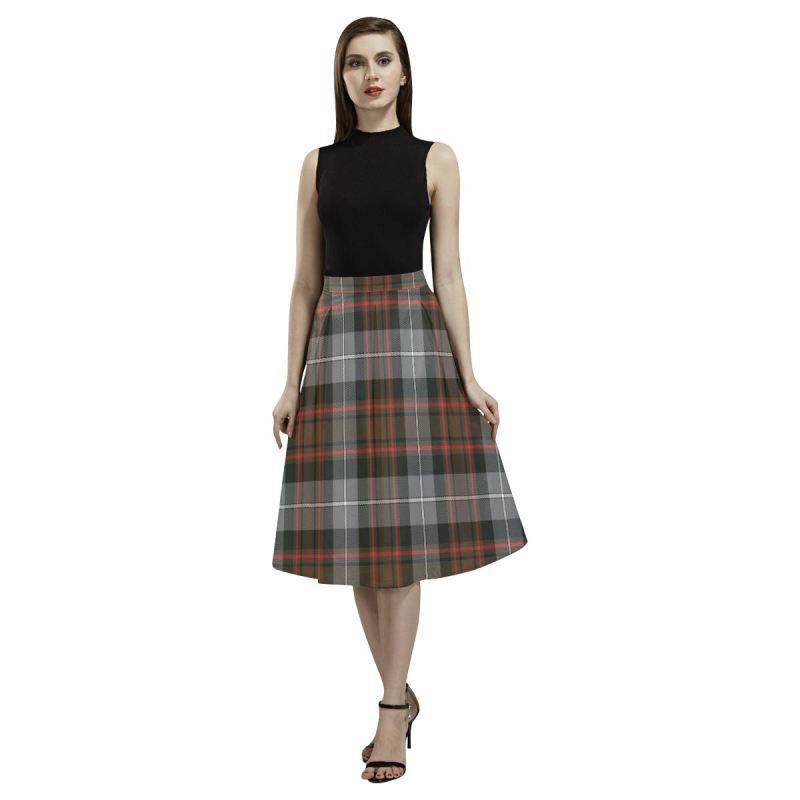 Macrae Hunting Weathered Tartan Aoede Crepe Skirt