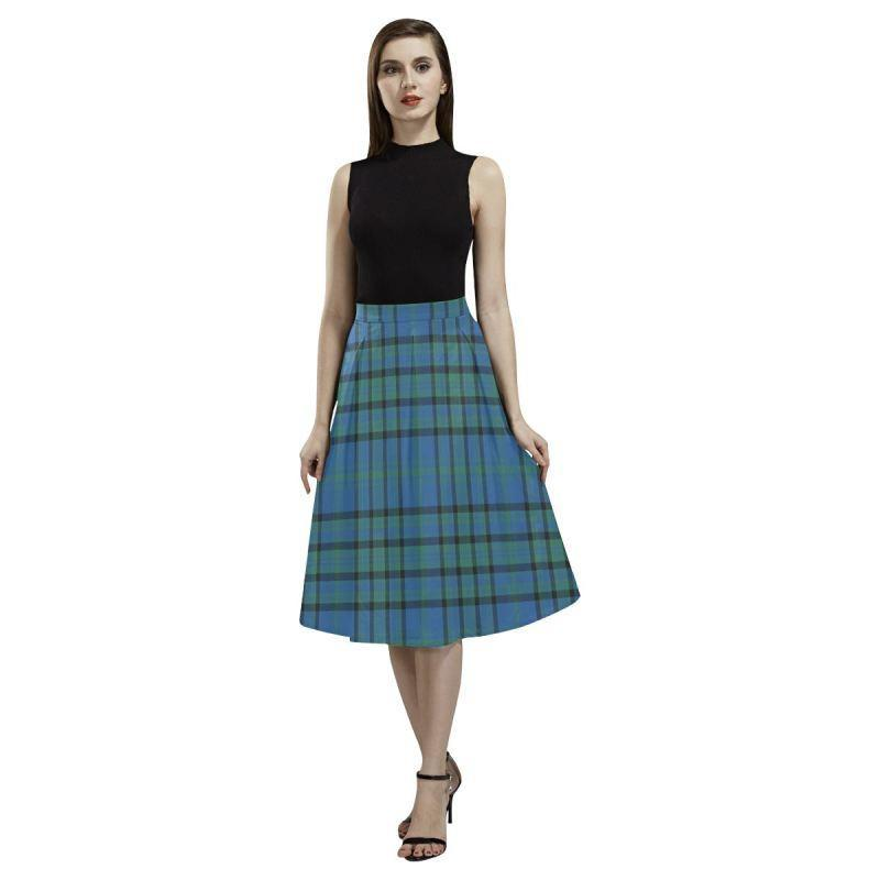 Matheson Hunting Ancient Tartan Aoede Crepe Skirt