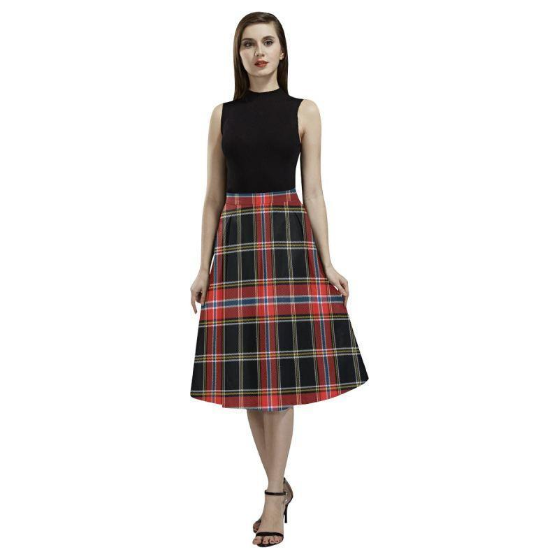 Norwegian Night Tartan Aoede Crepe Skirt
