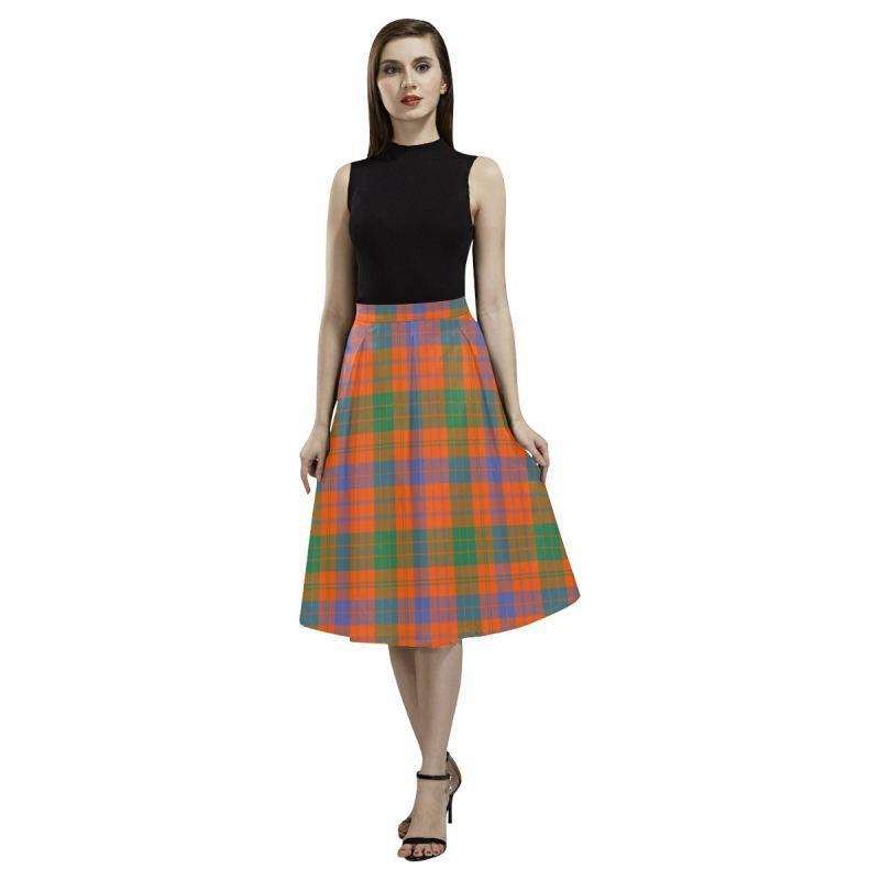 Ross Ancient Tartan Aoede Crepe Skirt