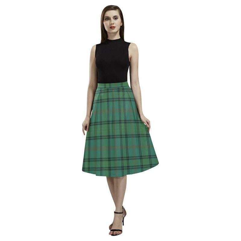 Ross Hunting Ancient Tartan Aoede Crepe Skirt