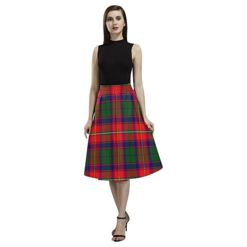 Roxburgh District Tartan Aoede Crepe Skirt