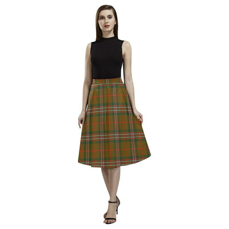 Scott Brown Modern Tartan Aoede Crepe Skirt